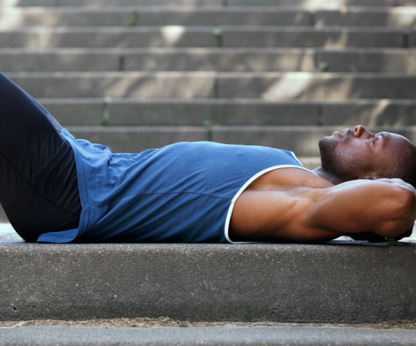 Pelvic tilts are an easy way to strengthen your abdominals and stretch out your low back.