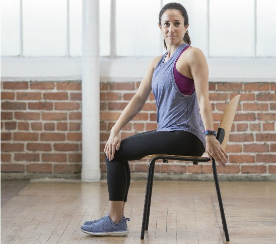 The seated lower back rotational stretch helps to relieve pain, while working your core muscles and strengthening your lower back.