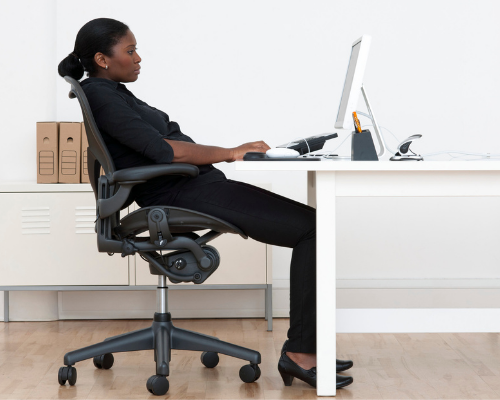 Poor posture can contribute to weakening of the core muscles and subsequent low back pain.