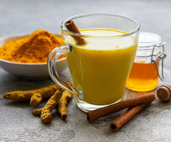 Turmeric Milk is high in antioxidants making it good for treating back pain.