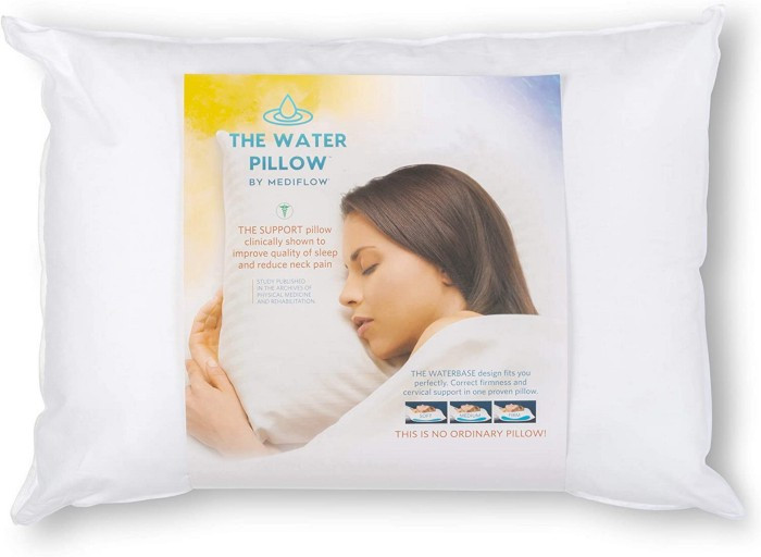 water base technology has been clinically proven by an independent Johns Hopkins study to reduce neck pain and improve overall quality of sleep