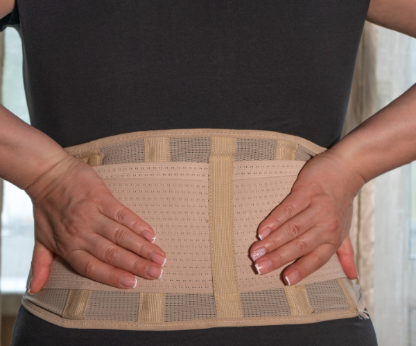 It is important to get fitted for the right type of back brace.