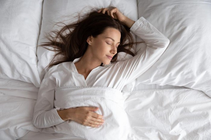 Sleeping on your back is one of the healthiest positions for sleeping