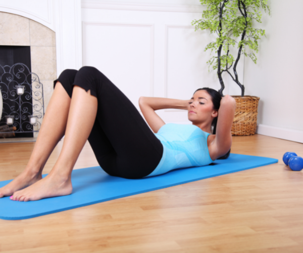 Strong abdominal muscles can help support your back and reduce low back pain.