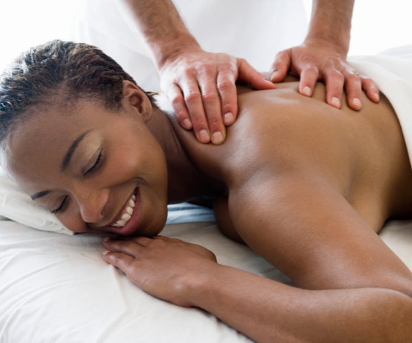 Massages can help improve circulation and relaxation of back muscles.