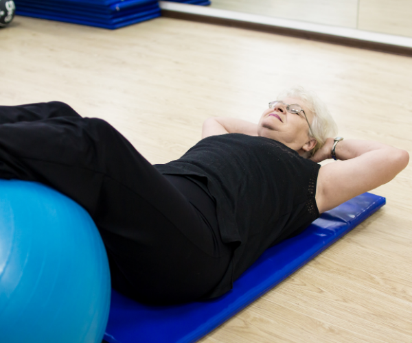 Pelvic tilts are one of the most recommended stretches for low back pain