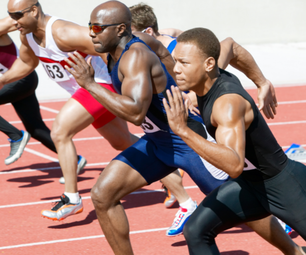 athletes competing in a race. Can plasma injections help recovery?