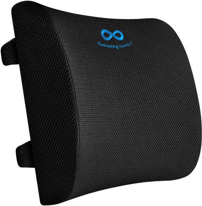 This lumbar cushion for office chairs is built to support the spinal curvature of your lower back, providing you with optimal comfort.