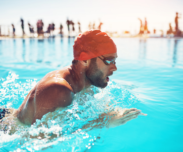 Swimming provides supported low impact aerobic conditioning for your body.