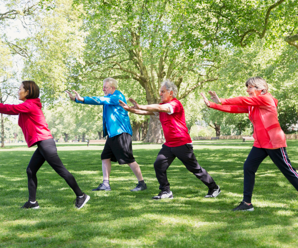 The slow flow of Tai Chi movements, along with the deep breathing that accompanies it, helps to ease back pain.