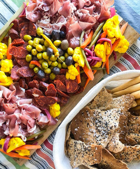 charcuterie and homemade lavash