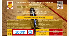 Scientific Paper Writing with Dr. Ashish Kumar-Dept. of Periodontology, R.I.M.S Dental College