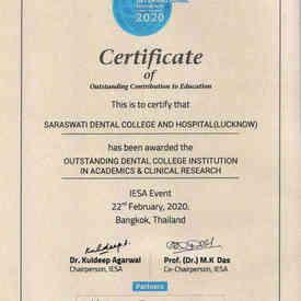 IESA Event Thiland certificate 2020