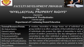 Webinar on Intellectual Property Rights on 29th September 2020 with Mr Kalyan Santra