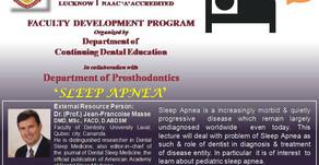 Faculty Development Program on Sleep Apnea with Prof. Jean Francoise Masse