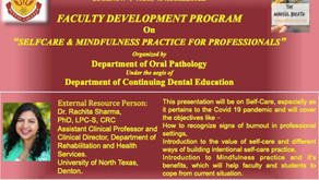 FDP on Selfcare & Mindfulness Practice for Professionals with Dr Rachita Sharma