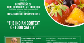 """Webinar on """"The Indian Context of Food Safety"""""""