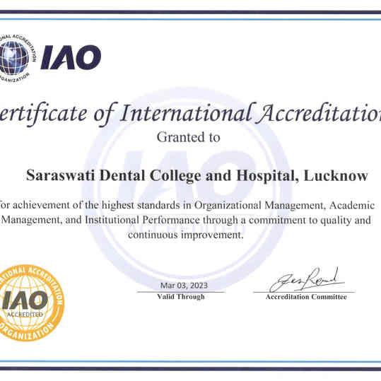 SDC IAO Certificate