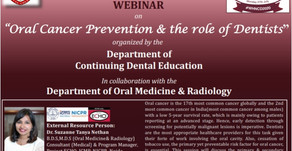 Oral cancer prevention & the role of dentist with Dr Suzanne Tanya Nathan