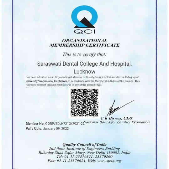 Organisational Membership Certificate