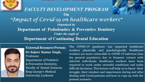 Impact of COVID19 on healthcare workers on 22nd Sep 2020 with Dr Rajeev Kumar Singh