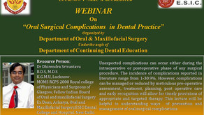 Webinar on Oral Surgical Complication in Dental Practices with Dr Dhirendra Srivastava
