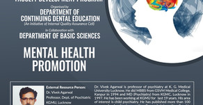 Webinar on Mental Health Promotion with Dr Vivek Agarwal