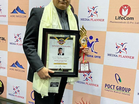 "Dr. Vikram Ahuja Awarded with ""Health Icon & Corona Warriors Awards"" by Honorable Jai Pratap Singh"