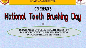 Celebrating National Tooth Brushing Day by Department of Public Health Dentistry 7th Nov 2020
