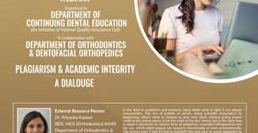 Webinar on Plagiarism & Academic Integrity with Dr Priyanka Kapoor