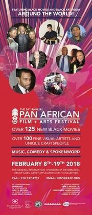 Flyer Pan African Film Festival 2020 Los