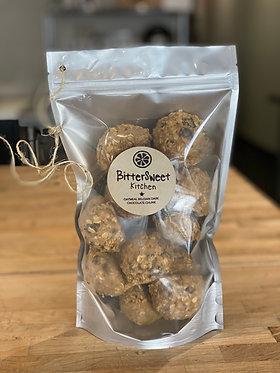 Oatmeal Belgian Dark Chocolate Chunk Cookies - dozen, unbaked & frozen