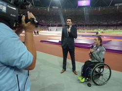 Presenting at the Olympic Stadium