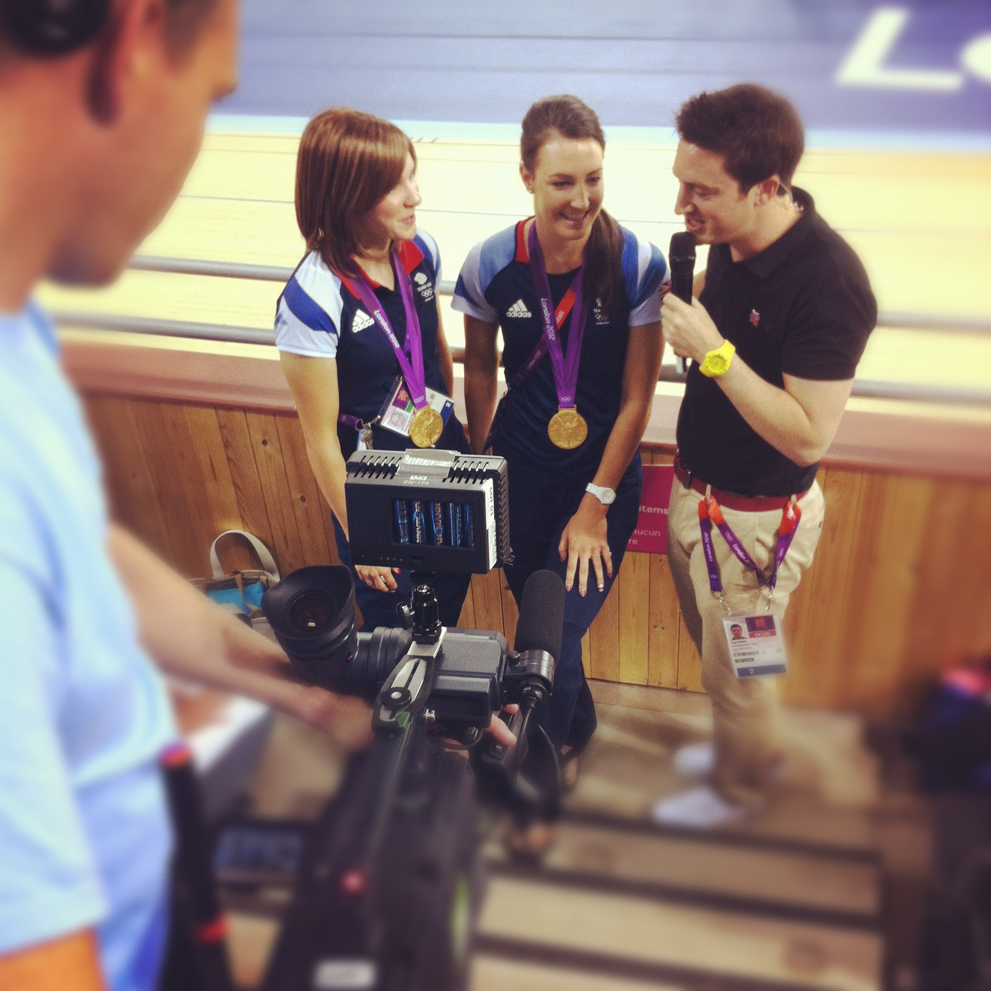 Post-race interview at London 2012