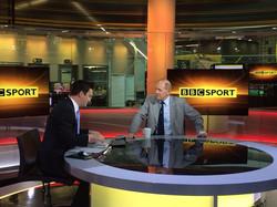 On set at BBC Sport