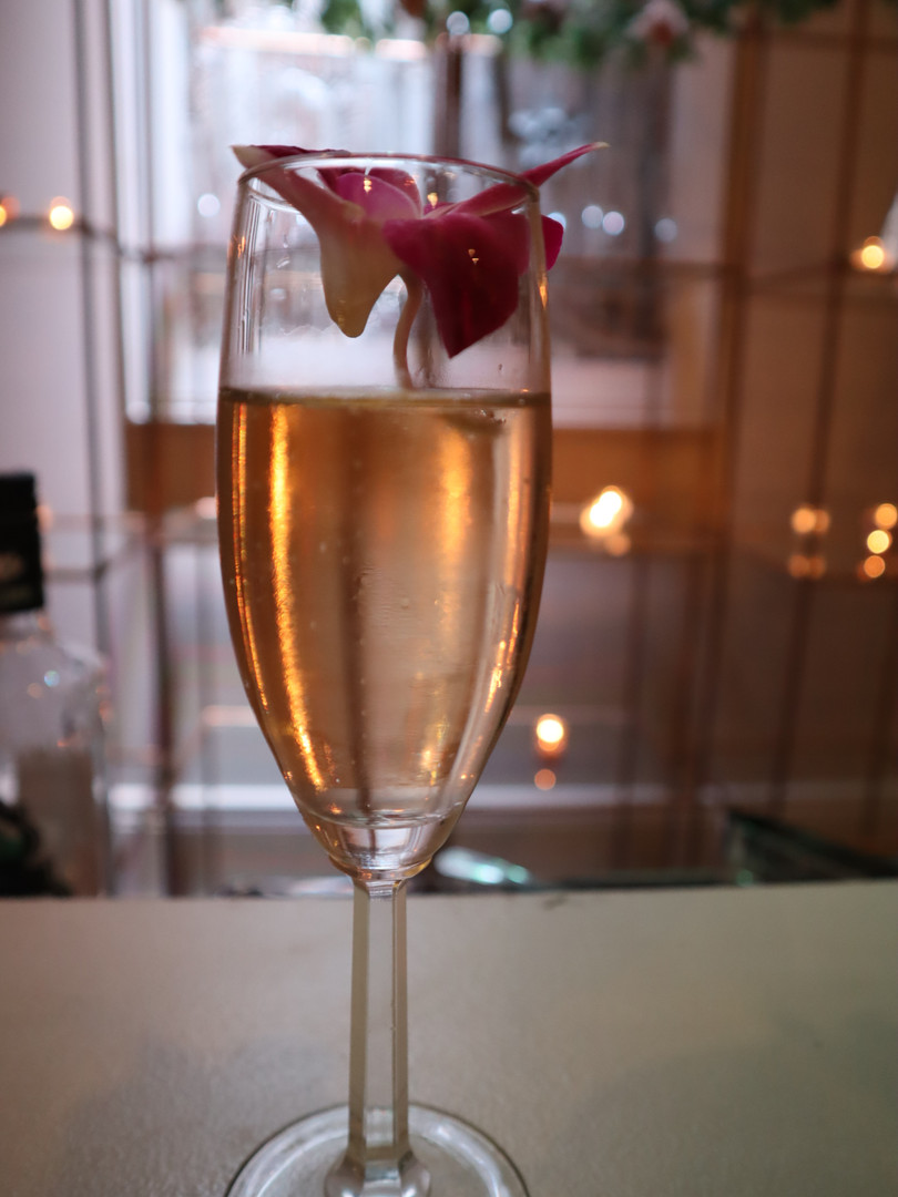 floral champagne