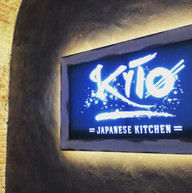 Kyto sushi bar interni produzione  e creativita per logo lampade quadri