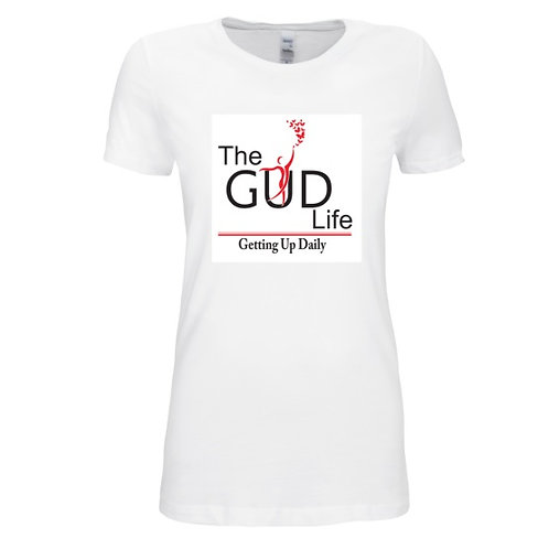The GUD Life (Woman) White jersey tee