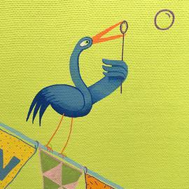 oiseau faisant bulle