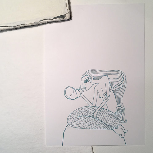 Sirène à la conque