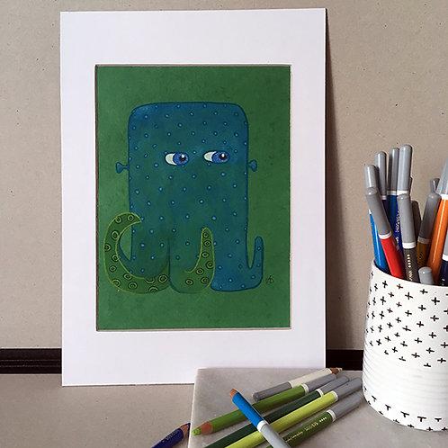 Pieuvre bleue