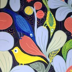 oiseaux dans feuillage