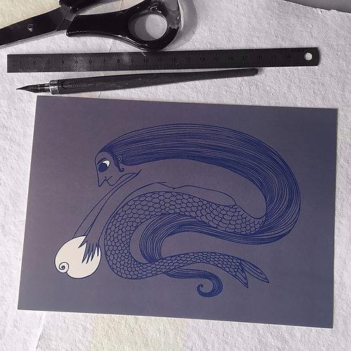 Sirène au coquillage