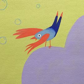 oiseau eclate bulle