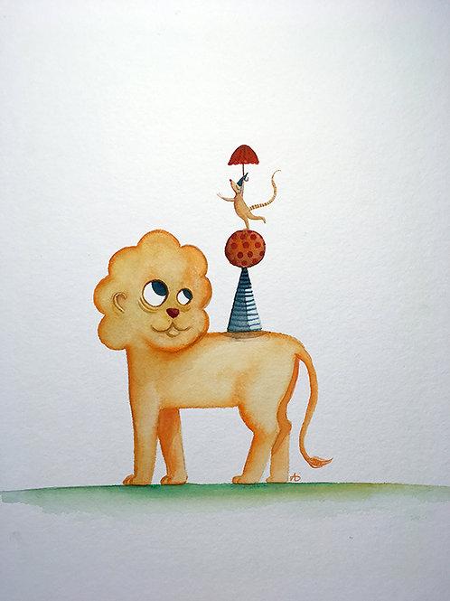 Le lion et la souris (au cirque)