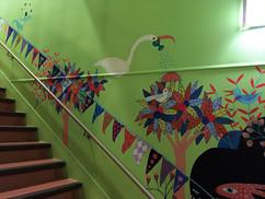 bas des escaliers