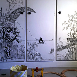 fresque chambre jo