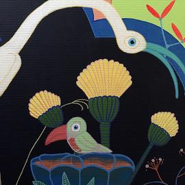 oiseau dans fleur