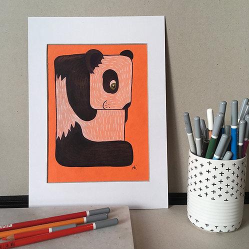 Panda fond orange