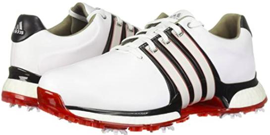 Adidas Tour 360 XT Golf Shoe - White/Blue/Red